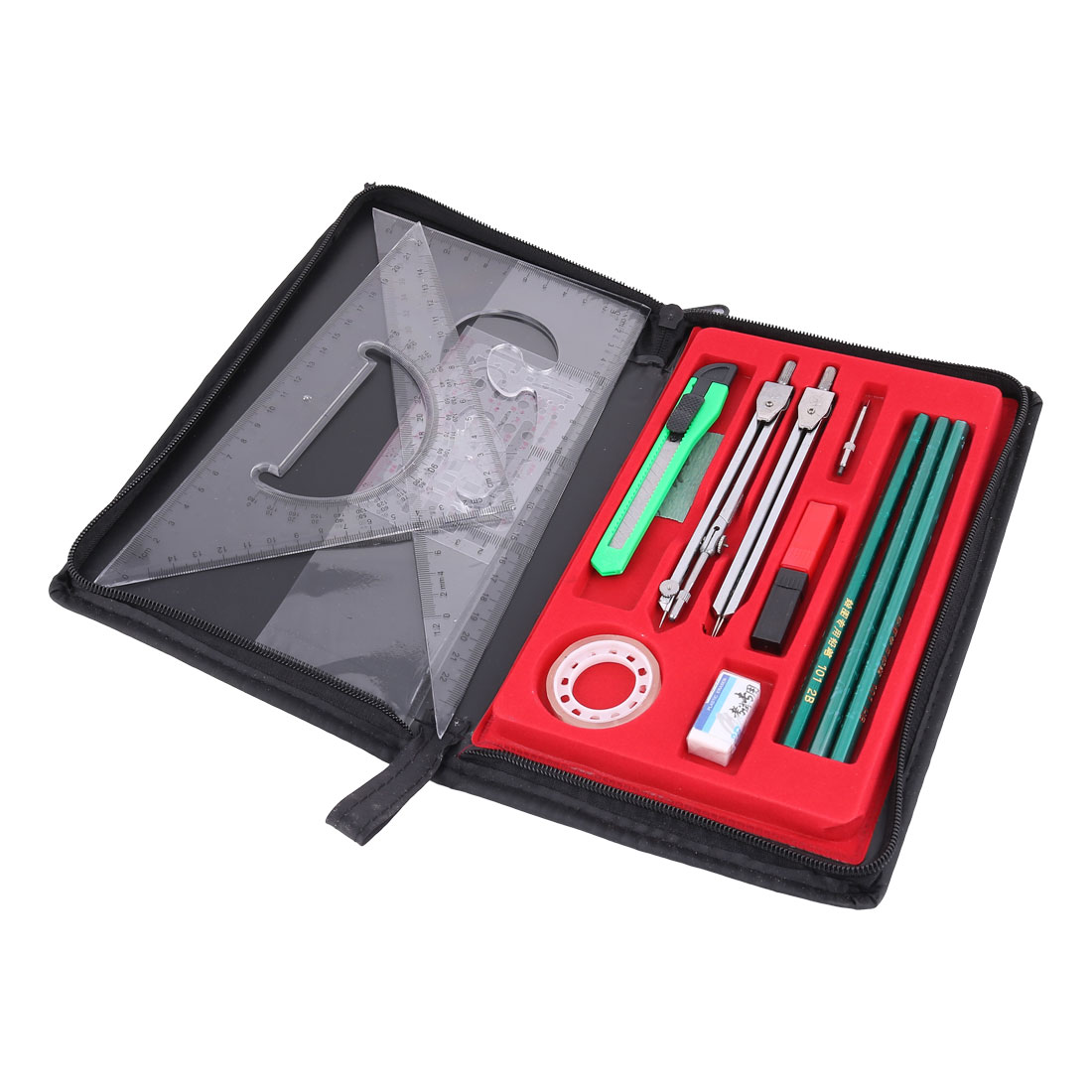 Students Mapper Mechanical Compass Plotter Combination Drawing Tools Set 16 in 1