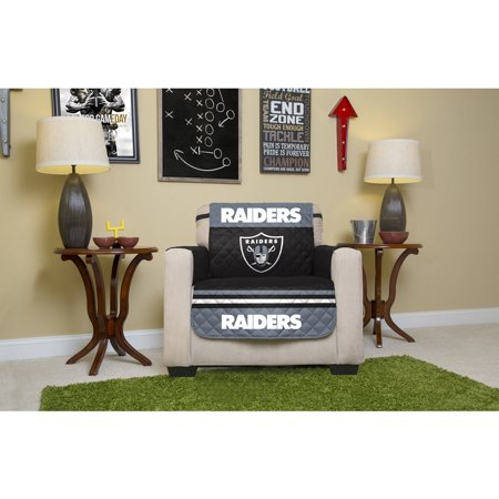 Nfl Licensed Furniture Protector  Chair  Oakland Raiders