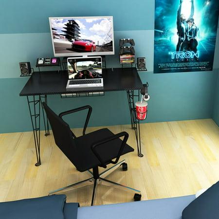 Terrific Atlantic Gaming Desk 33935701 Black Carbon Fiber Caraccident5 Cool Chair Designs And Ideas Caraccident5Info