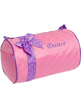 debc76777c Product Image SILVER LILLY NEW Girl Dance Cheer Ballet Duffel Travel Gym  Duffle Bag w  Bow NWT
