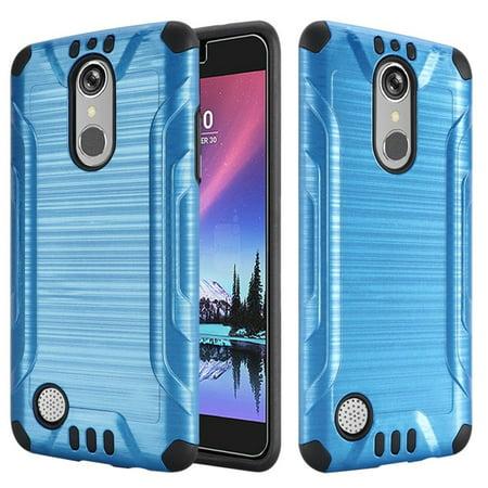 LG K20 Plus case, LG K20 V case, LG V5 case, by Insten Hybrid Slim Armor Brushed Metal Design Dual Layer [Shock Absorbing] Case For LG K20 Plus / K20 - K20 Head