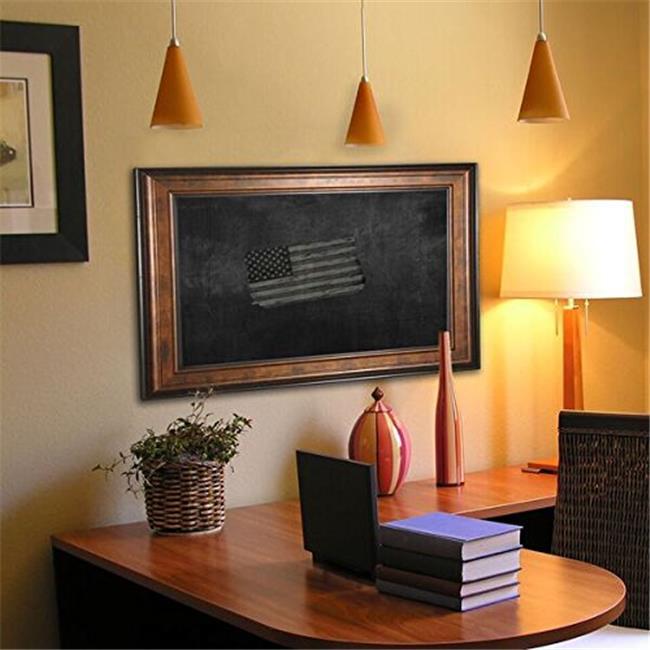 Rayne Mirrors B154848 American Made Bronze and Black Blackboard & Chalkboard, 56.75 x 56.75 in.