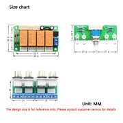 Newly Upgraded Version 4-Way Relay Audio Input Signal Selector Switching RCA Audio Input Selection Board of Rotary Switch for Amplifiers Green - image 6 of 6