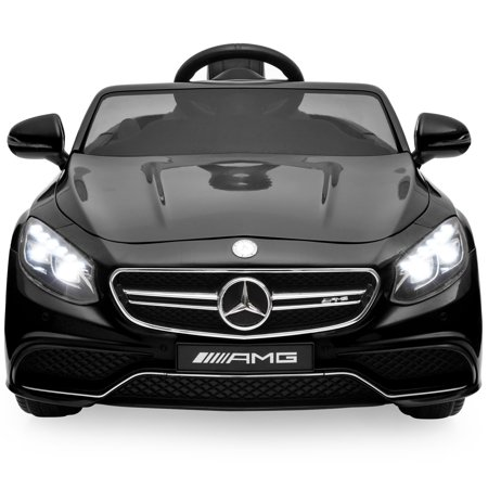 (Best Choice Products 12V Kids Battery Powered Licensed Mercedes-Benz S63 Coupe RC Ride-On Car w/ Parent Control, LED Lights, MP3 Player, 3 Speeds - Black)