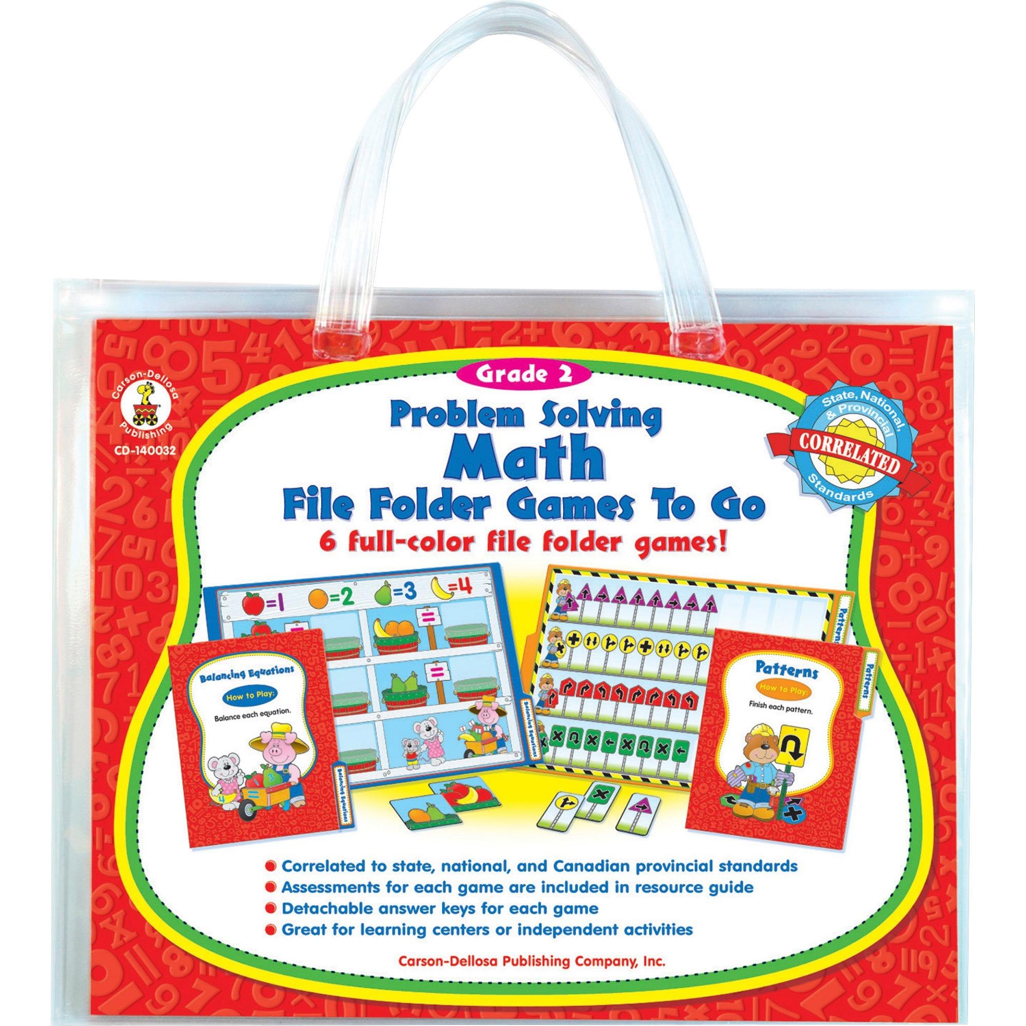 Carson-Dellosa, CDP140032, Problem Solving Math Game, 1 Each, Multi