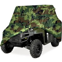 """Heavy Duty Waterproof Superior UTV Side By Side Cover Covers Fits Up To 120""""L W/ Roll Cage Camouflage Color ATV Cover Rhino Ranger Mule Gator Prowler Razor Prowler Rancher Foreman Fourtrax Recon"""