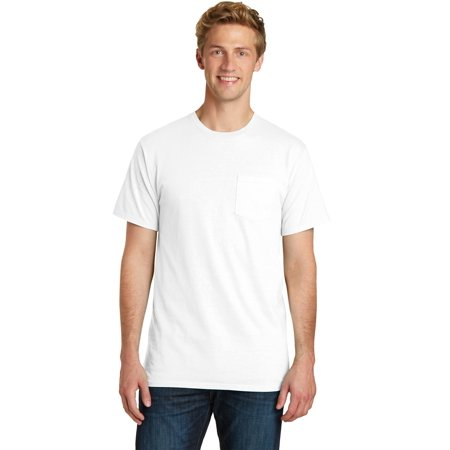 Port & Company® Pigment-Dyed Pocket Tee.  Pc099p White 2Xl - image 1 de 1