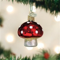 Old World Christmas Lucky Mushroom Handcrafted Hanging Tree Ornament ()