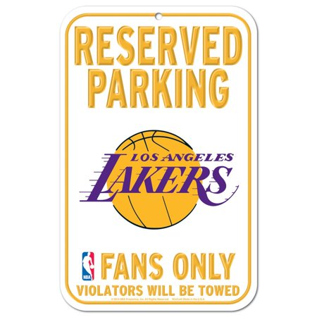 Los Angeles Lakers Official NBA 11 inch x 17 inch Plastic Sign by Wincraft