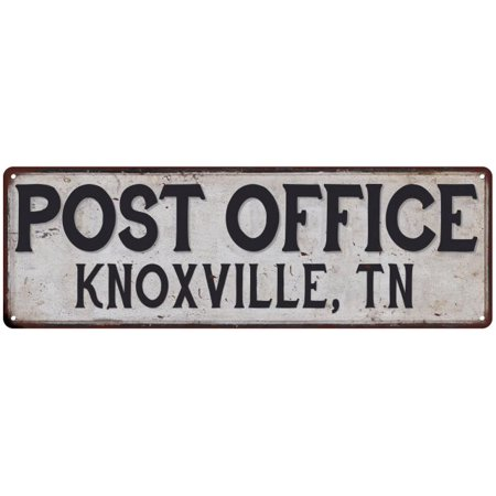 Knoxville, Tn Post Office Personalized Metal Sign Vintage 6x18 106180011119
