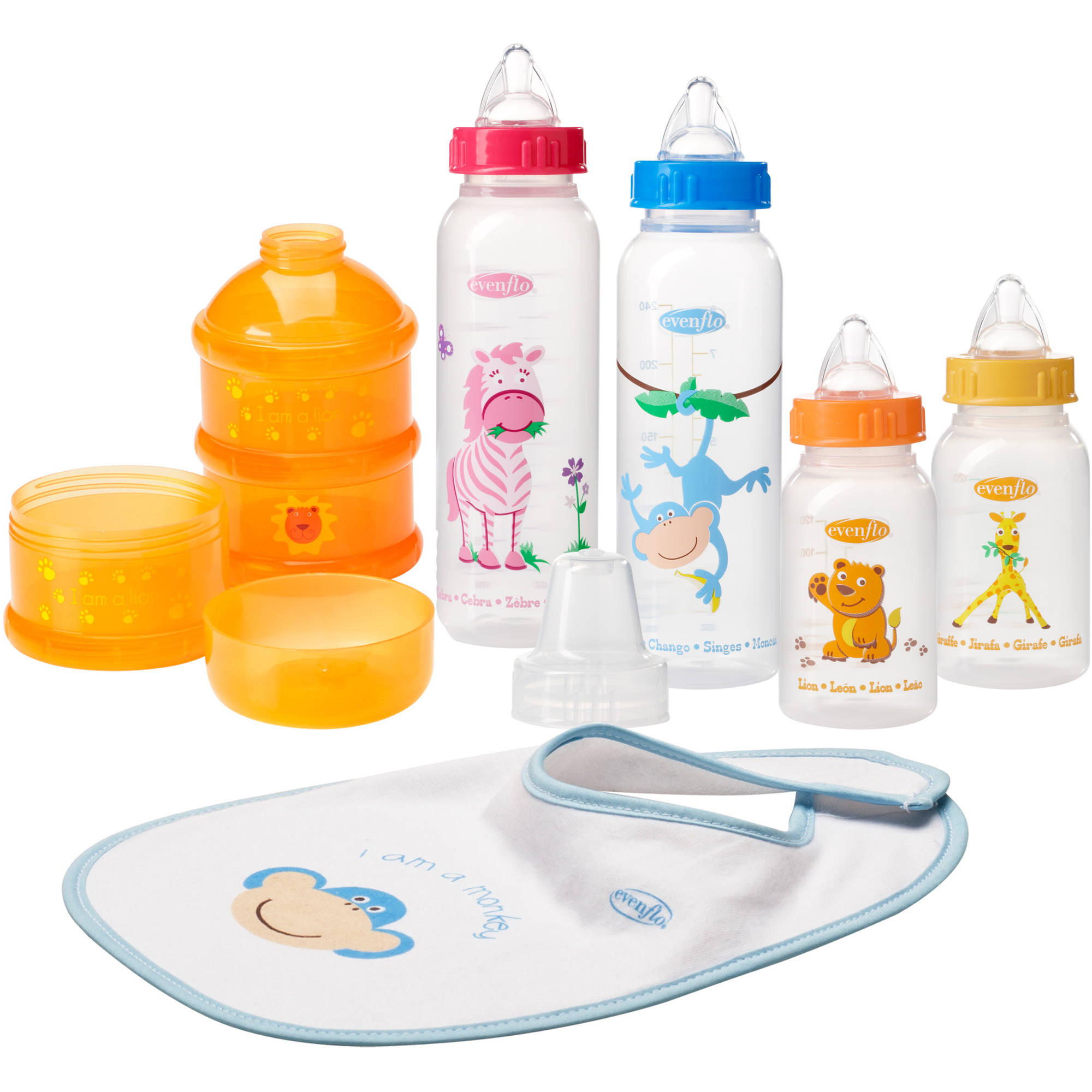 Evenflo Zoo Friends Infant Starter Set, BPA-Free