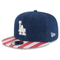 Los Angeles Dodgers New Era Fully Flagged 9FIFTY Adjustable Hat - Navy/Red - OSFA