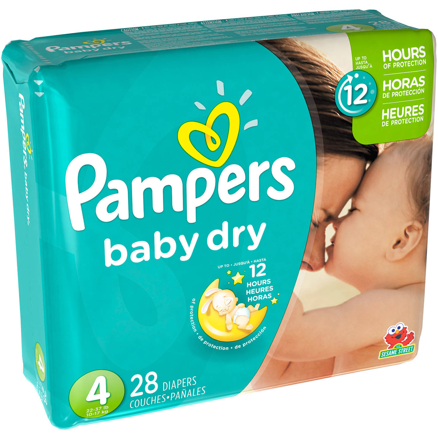 Pampers Baby Dry Diapers, Size 4, 28 Diapers