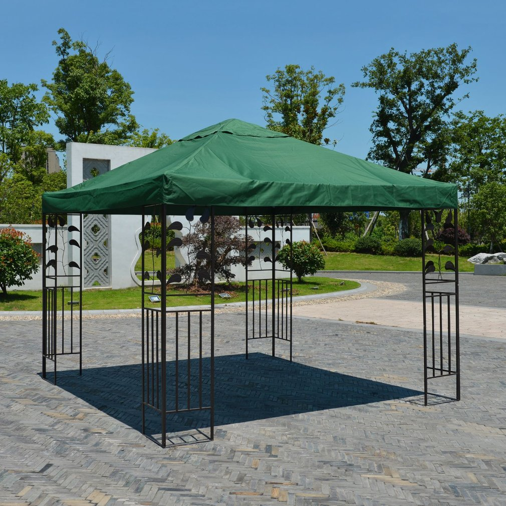 10*10 Feet Thick Gazebo Top Cover Patio Canopy Roof Of Tent Single-layer & Replacement Canopy Tops