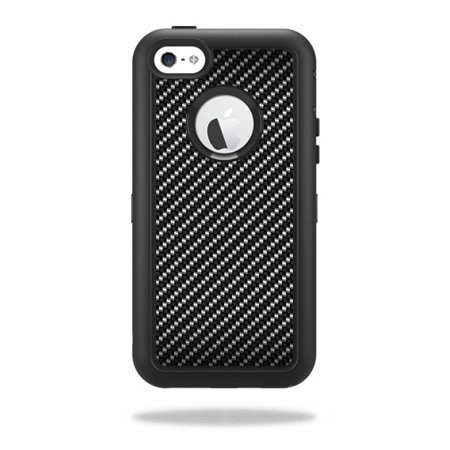 Skin For OtterBox Defender iPhone 5C Case – Carbon Fiber | MightySkins Protective, Durable, and Unique Vinyl Decal wrap cover | Easy To Apply, Remove, and Change Styles | Made in the USA ()