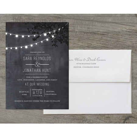 Wedding Glow Deluxe Wedding Invitation](Lantern Wedding Invitations)