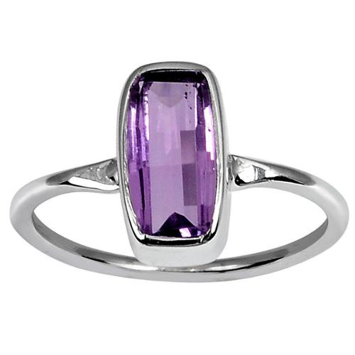 Orchid Jewelry 925 Sterling Silver 2ct Purple Amethyst Stackable Ring OJR-3149_7 2.0ct amethyst Ring