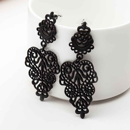 Bohemia Hollow Leafs Women Girls Earrings Ear Studs Jewelry Dangle Alloy Earrings Jewelry