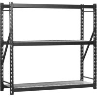 "Edsal 77""W x 24""D x 72""H Steel Welded Storage Rack, Black"
