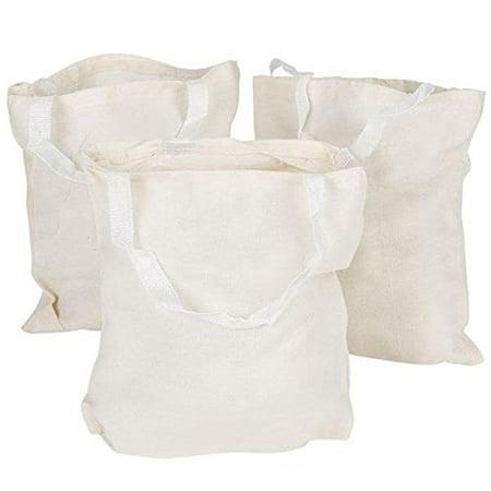 Rhode Island Novelty JATOTLG Canvas Tote Bag, 12.75-Inch, Pack of 12
