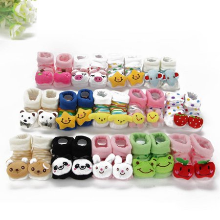 Baby Girl Bootie (Cartoon Kid Newborn Baby Girl Boy Socks Slipper Shoes Boots Booty Booties Bootee )