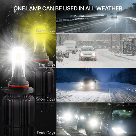 D2 LED Headlight Bulbs 2504/PSX24 Smart Function Dual Color White/Yellow 8000Lm - image 7 of 11