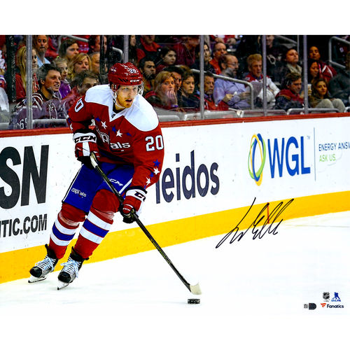 "Lars Eller Washington Capitals Autographed 16"" x 20"" Red Jersey Skating Photograph No Size by Fanatics Authentic"