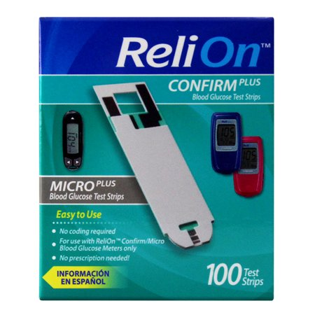 ReliOn Confirm/Micro Blood Glucose Test Strips, 100 Ct