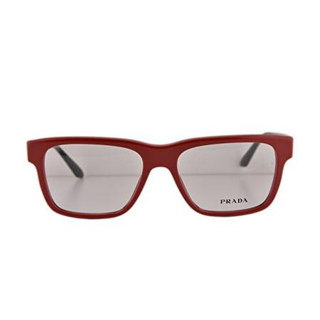 Prada PR16RV Eyeglasses 53-16-140 Red TKS1O1 VPR16R For Women (FRAME (Red Prada Eyeglasses)