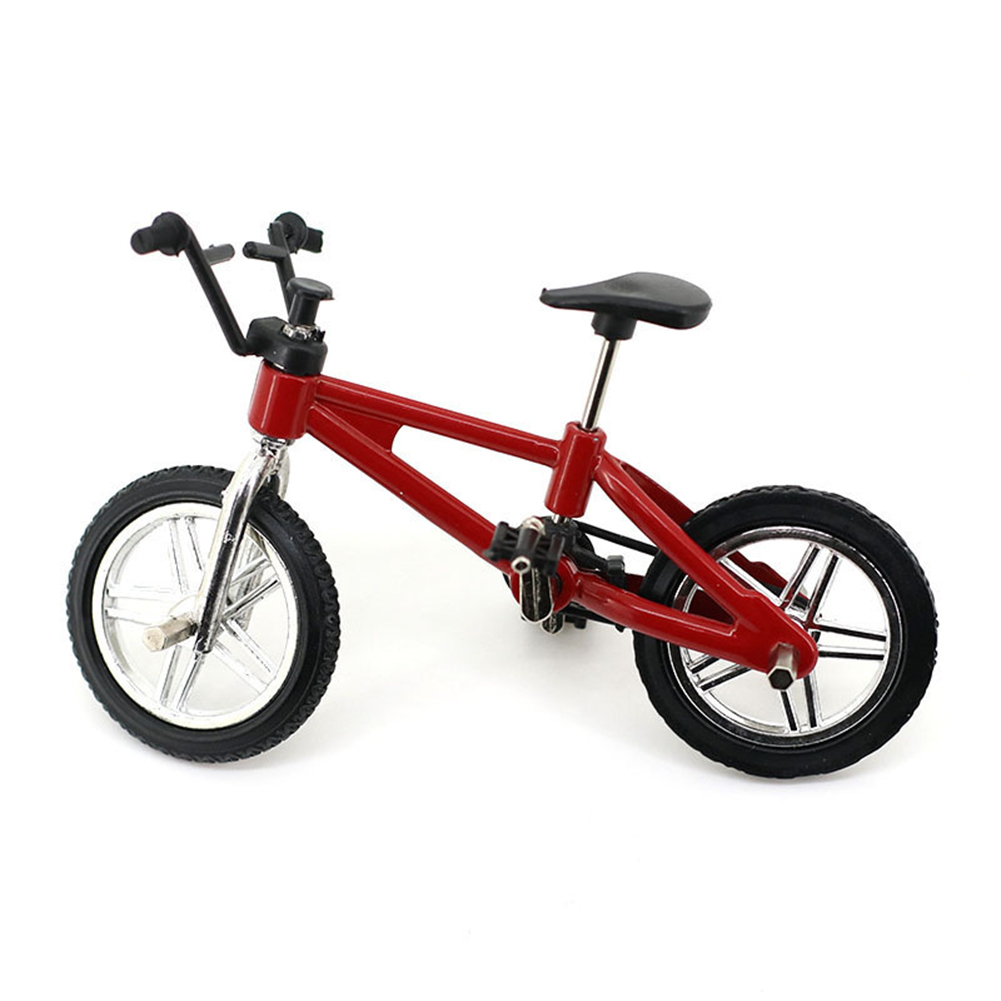Creative Simulation Mini Alloy Finger Bikes Children Fingerboard Bicycle Toys Gift Funny Style:Red