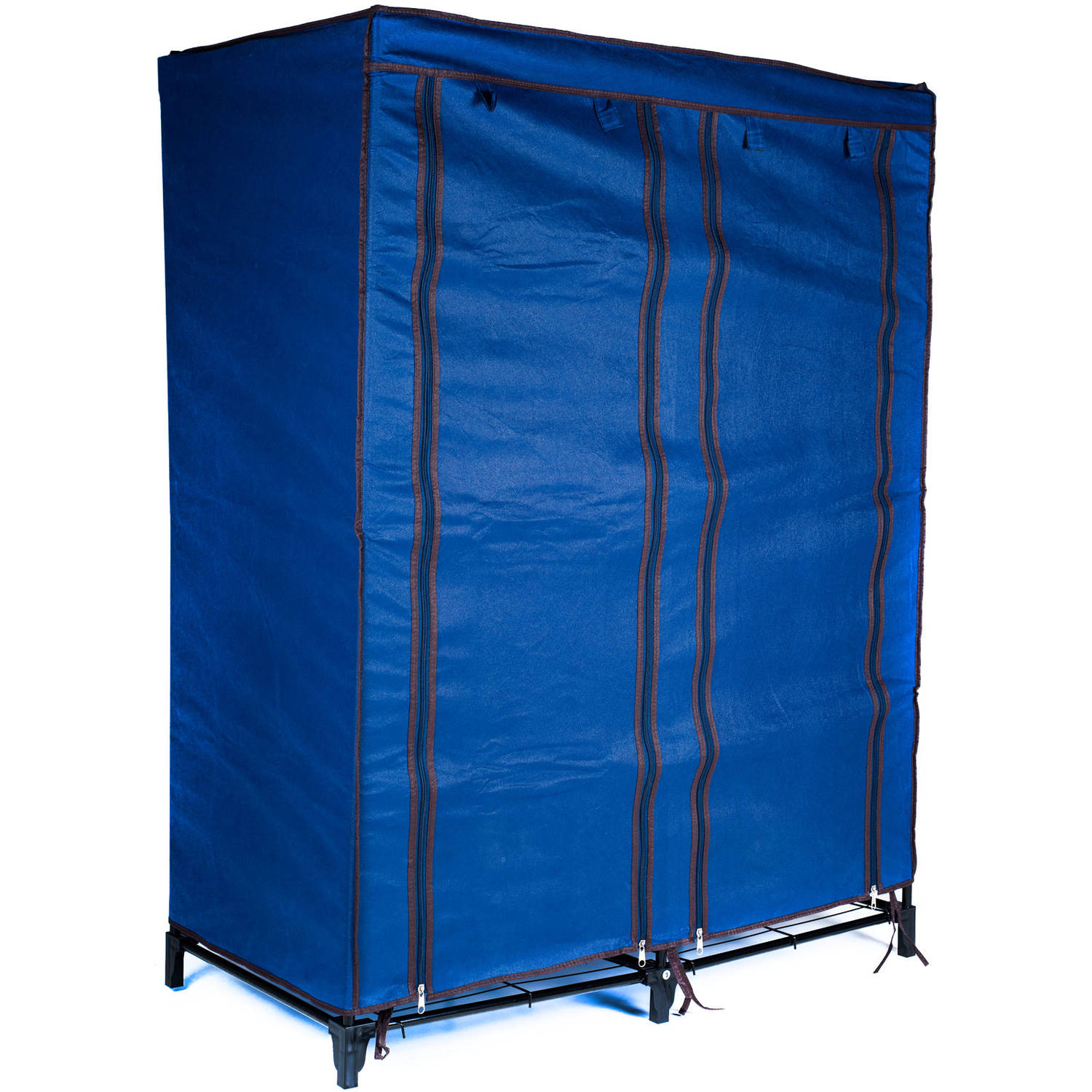 Everyday Home Clothes Closet Portable Wardrobe with Shelves, Blue