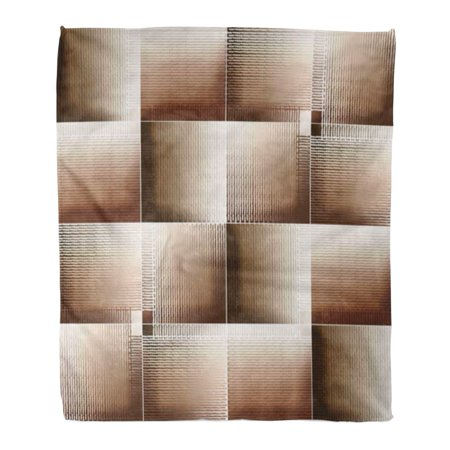 HATIART Flannel Throw Blanket Abstract Angle Artistic Board Construction Cracked Effect Exterior Soft for Bed Sofa and Couch 58x80 Inches - image 1 of 1