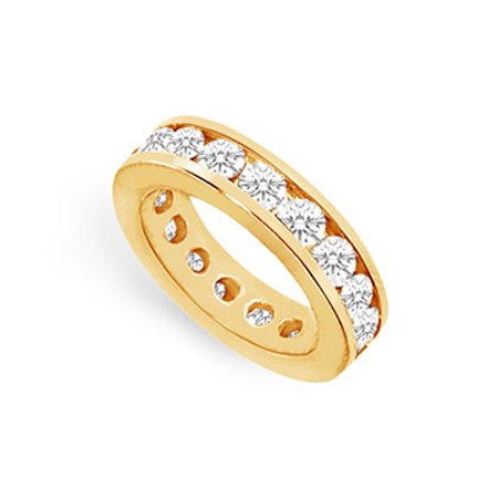 Five Carat CZ Eternity Band in 18K Yellow Gold Vermeil Channel Set - image 1 de 2
