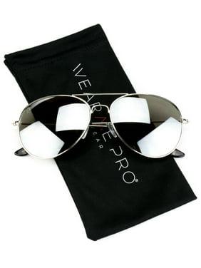 32b64b51db Product Image WearMe Pro - Polarized Classic Silver Mirror Aviator  Sunglasses for Men Women