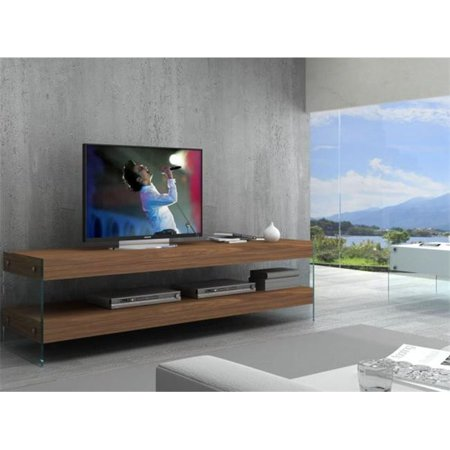 Walnut Elm (J & M Furniture 178544-TV Elm TV Base - White High Gloss & Walnut Vaneer )