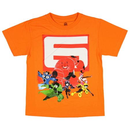 Disney Little Boys' Big Hero 6 Baymax and Cast Shirt (Medium)](Halloween Night Cast And Crew)