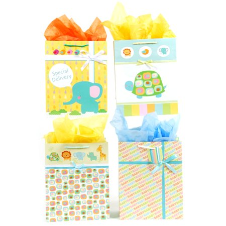 Flomo Extra-Large Size Baby Steps Baby Gift bags 12 pieces](Large Baby Gift Bag)