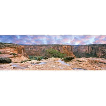 Canyon De Chelly National Monument at sunrise Arizona USA Canvas Art - Panoramic Images (36 x 12) Canyon De Chelly National Monument