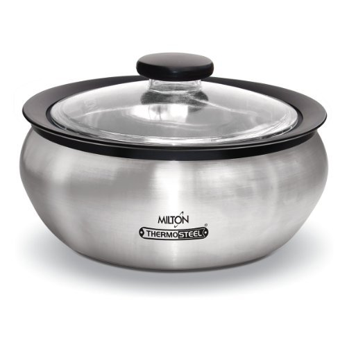 Milton Thermo Stainless Steel Insulated Casserole Keep Hot / Cold Serving Dish - 1.5 Liter