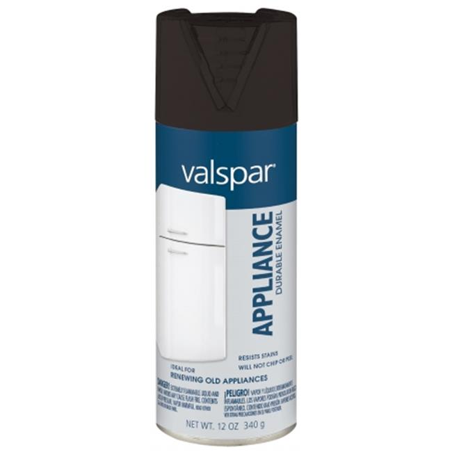 Valspar Brand 465-68001 SP 12 Oz Black Appliance Spray Paint - Pack of 6