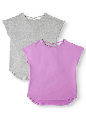 Athletic Works 2-Pack Dolman Active T-Shirt (Little Girls, Big Girls & Plus)