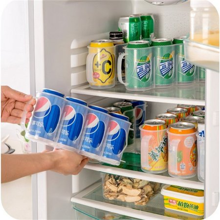 Plastic Beer Soda Can Storage Holder for Refrigerator Fridge Organizer Rack Kitchen Space Saver Holders Size:29.5 * 7 * 10.5CM (Fridge Organizers)