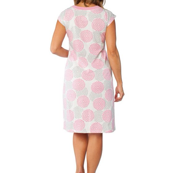 5088f3f0a61e8 Baby Be Mine - Maternity Nursing Nightgown with Romper - Walmart.com