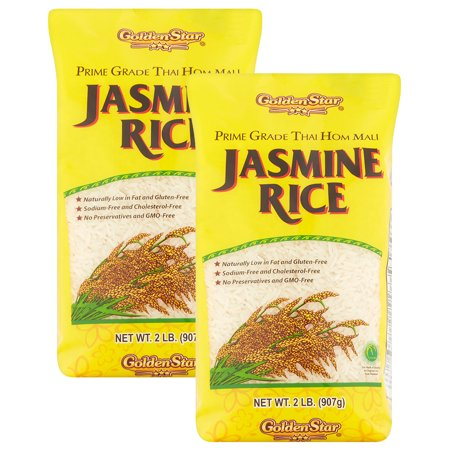 (2 Pack) Golden Star Prime Grade Thai Hom Mali Jasmine Rice, 2