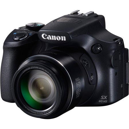 Canon Black Powershot Sx60 Hs Digital Camera With 16 1 Megapixels And 65X Optical Zoom