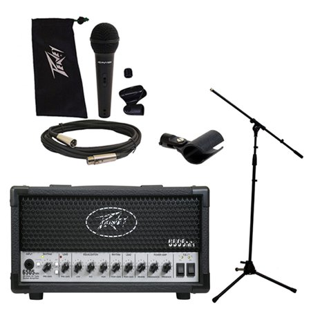 Peavey 6505 Mh Mini Head Electric Guitar 20W Tube Amp Amplifier W  Mic   Stand