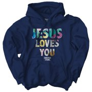 Jesus Loves You Christian T Shirt | Religious Gift God Faith Hoodie Sweatshirt