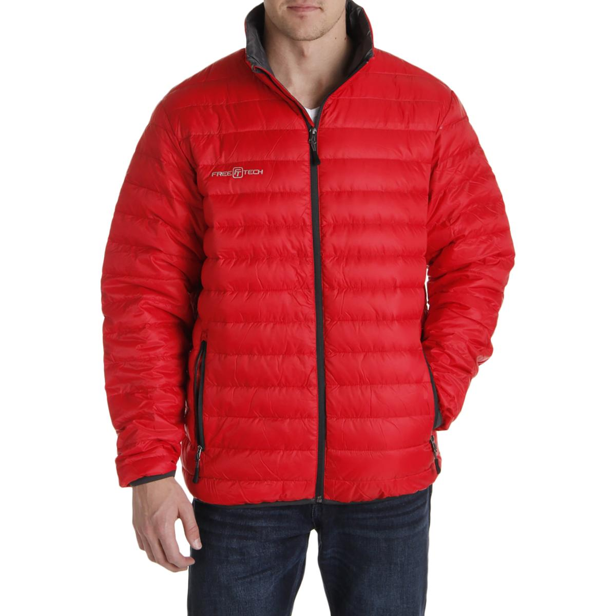 Free Tech Mens Down Packable Puffer Jacket