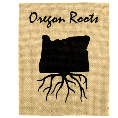 Burlap Bay Oregon Roots Burlap Wall Art