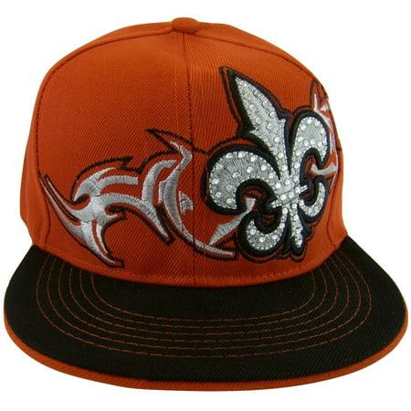 New League - Fleur De Lis Men s Adjustable Snapback Baseball Cap  (Red Black) - Walmart.com 118faf477dad
